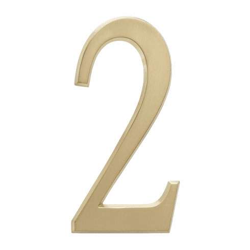 4.75 inches Number 2 Satin Brass