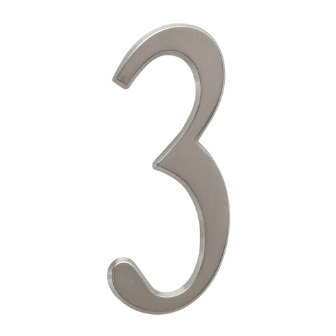 4.75 inches Number 3 Brushed Nickel