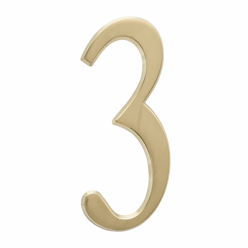4.75 inches Number 3 Satin Brass