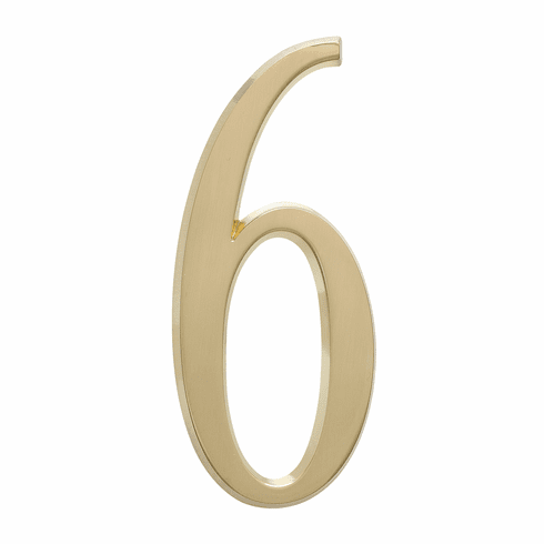 4.75 inches Number 6 Satin Brass