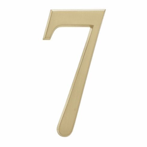 4.75 inches Number 7 Satin Brass