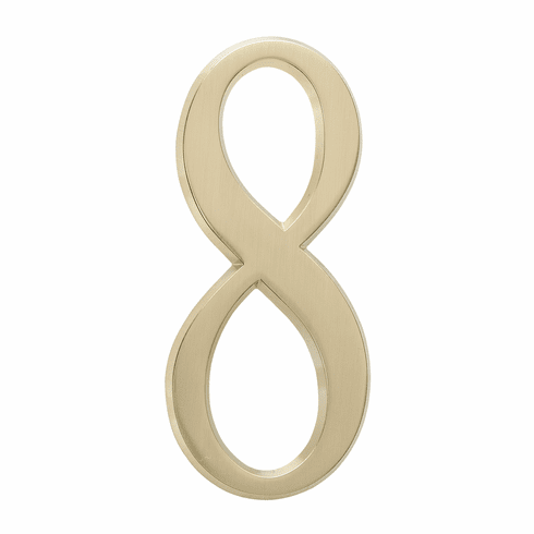 4.75 inches Number 8 Satin Brass