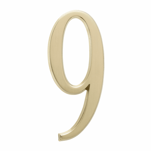 4.75 inches Number 9 Satin Brass