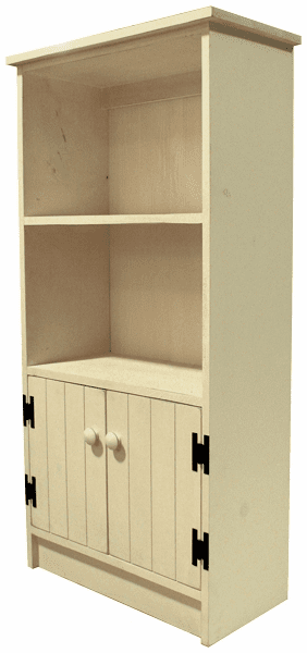 4' Bookcase with Doors