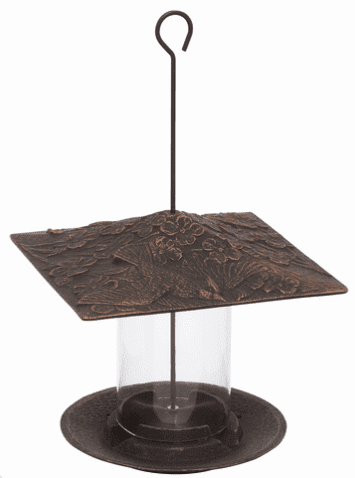 6 inches Cardinal Tube Feeder - Oil-Rubbed Bronze