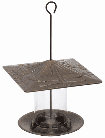 6 inches Dragonfly Tube Feeder - French Bronze