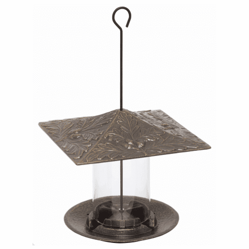 6 inches Oakleaf Tube Feeder - French Bronze