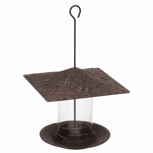 6 inches Oakleaf Tube Feeder - Oil-Rubbed Bronze