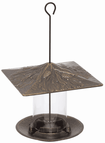 6 inches Pinecone Tube Feeder - French Bronze