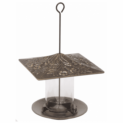 6 inches Trumpetvine Tube Feeder - French Bronze