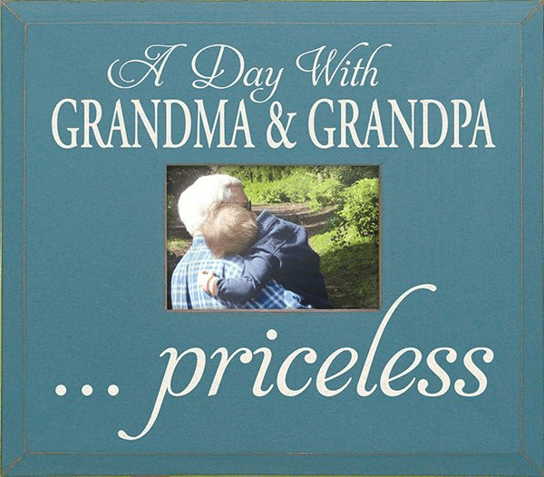 A Day With Grandma & Grandpa...Priceless Frame