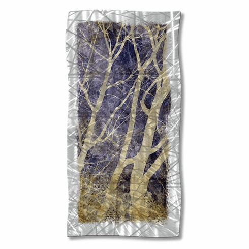 Abstract Forest Metal Wall Decor