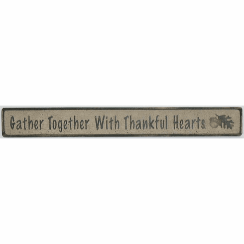 Acorn Decoration - Gather Together With Thankful Hearts