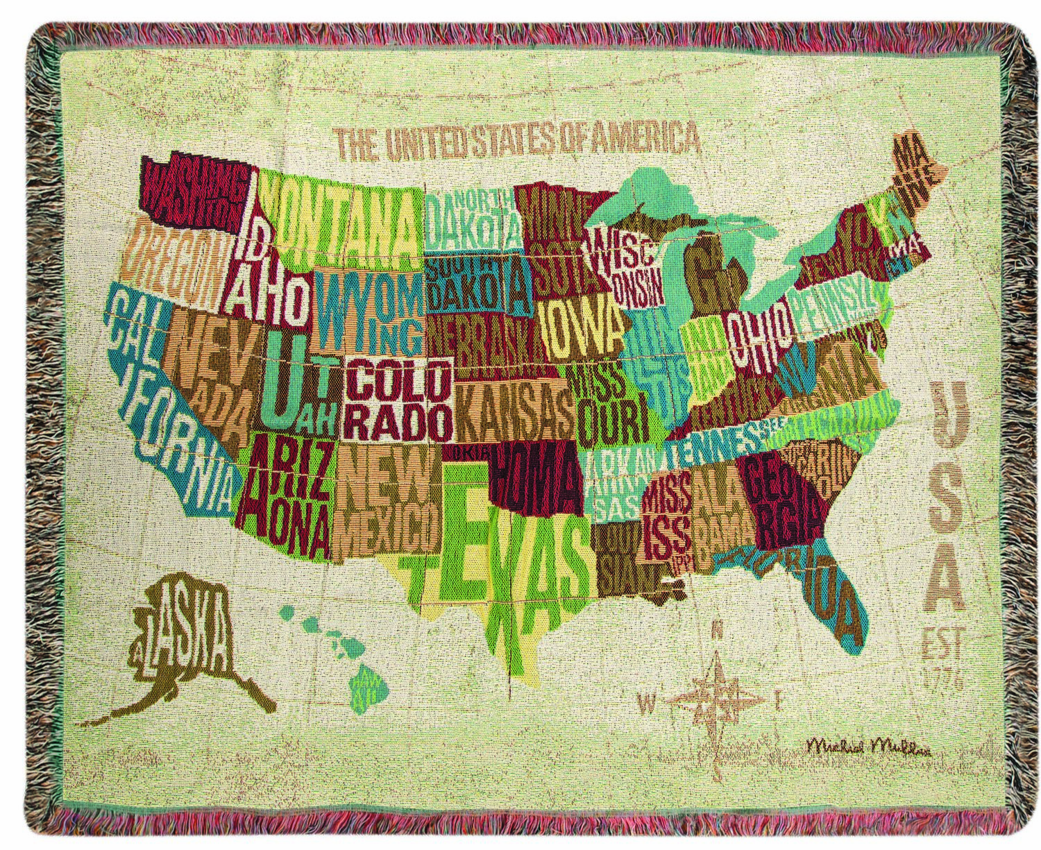 Across The Country Tapestry Throw