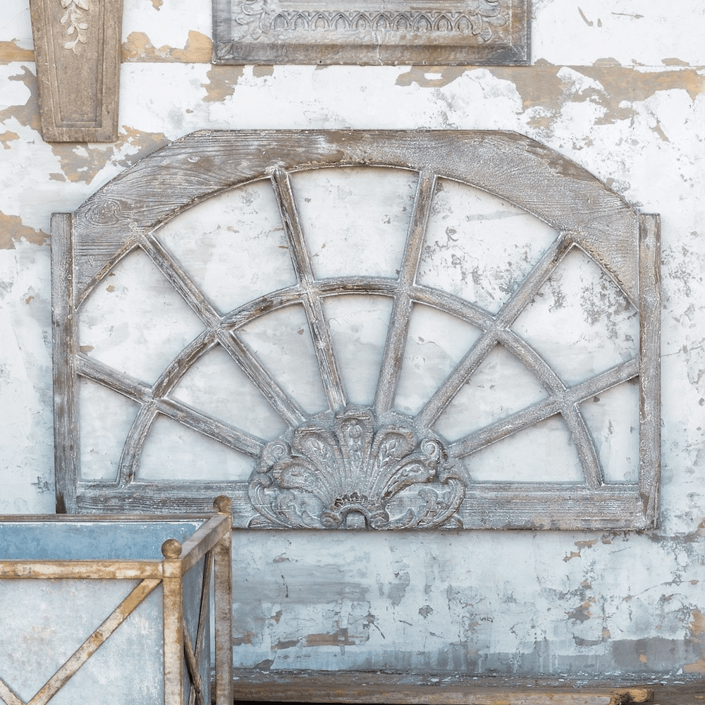 Aged Arched Window Frame