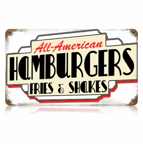 All American Hamburgers Diner Sign
