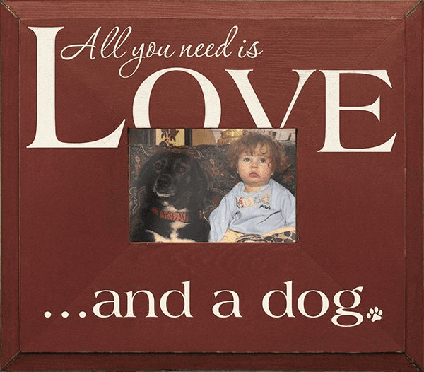 All you need is Love and a dog...Frame
