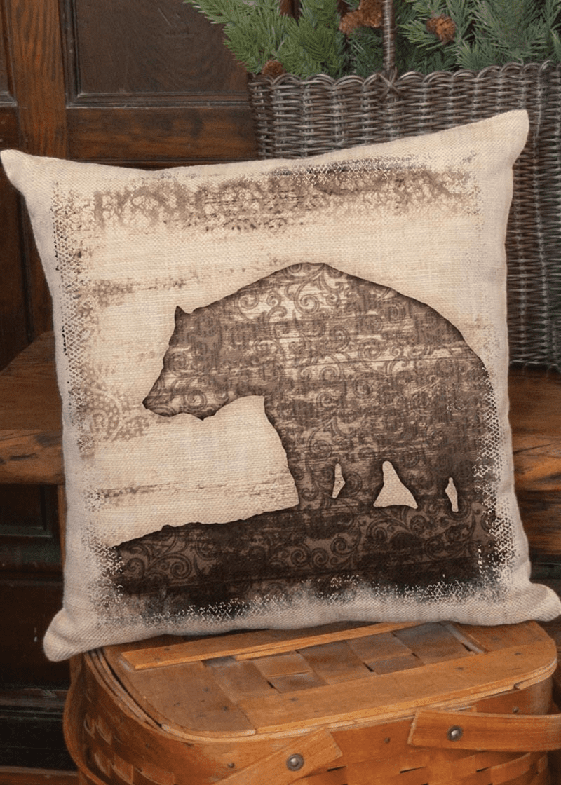Alpine Woods Bear Pillow