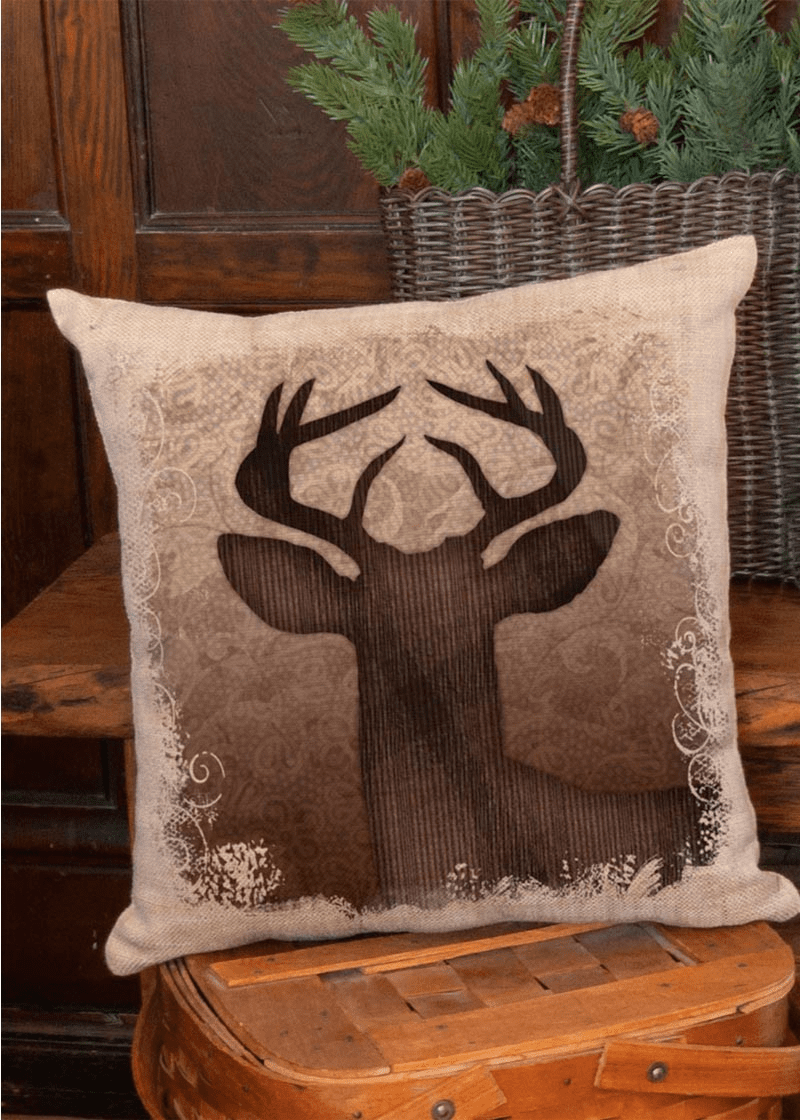 Alpine Woods Deer Pillow