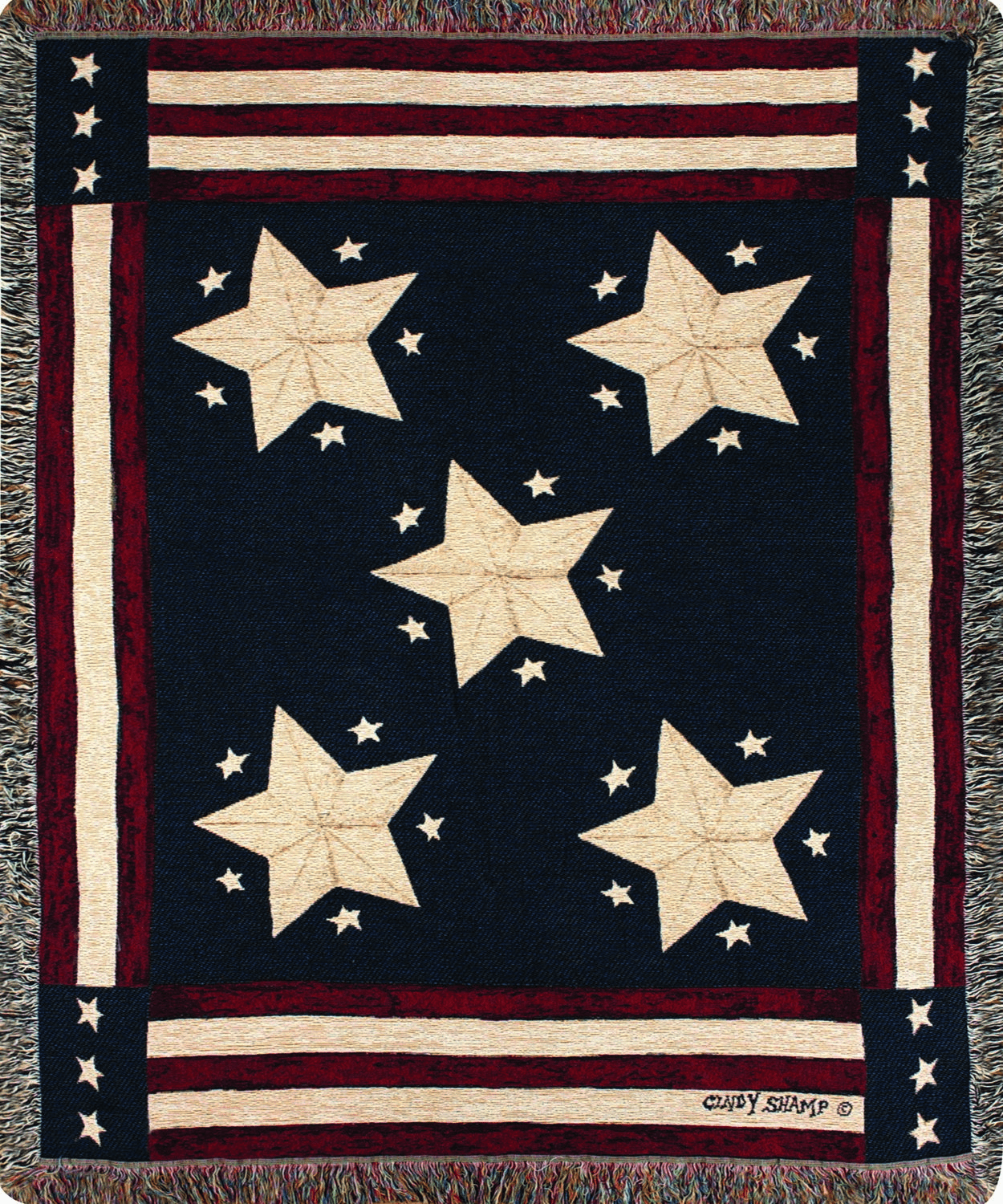 American Flag Long May It Wave Tapestry Throw