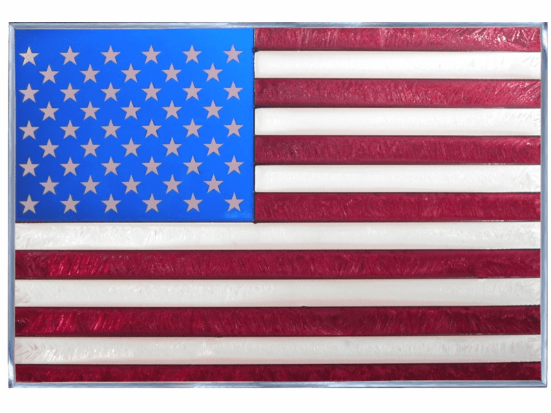 American Flag Stained Glass Art Glass
