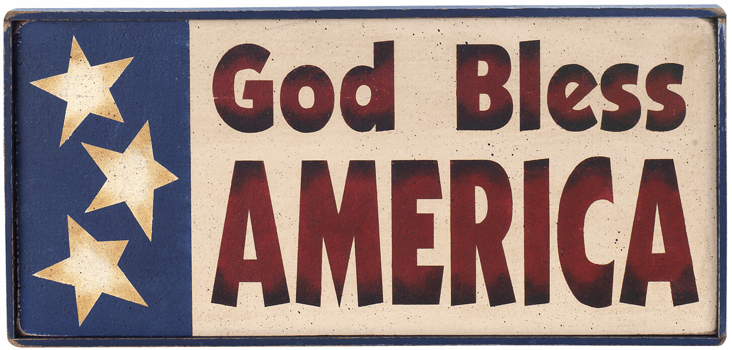 Americana Decoration - God Bless America