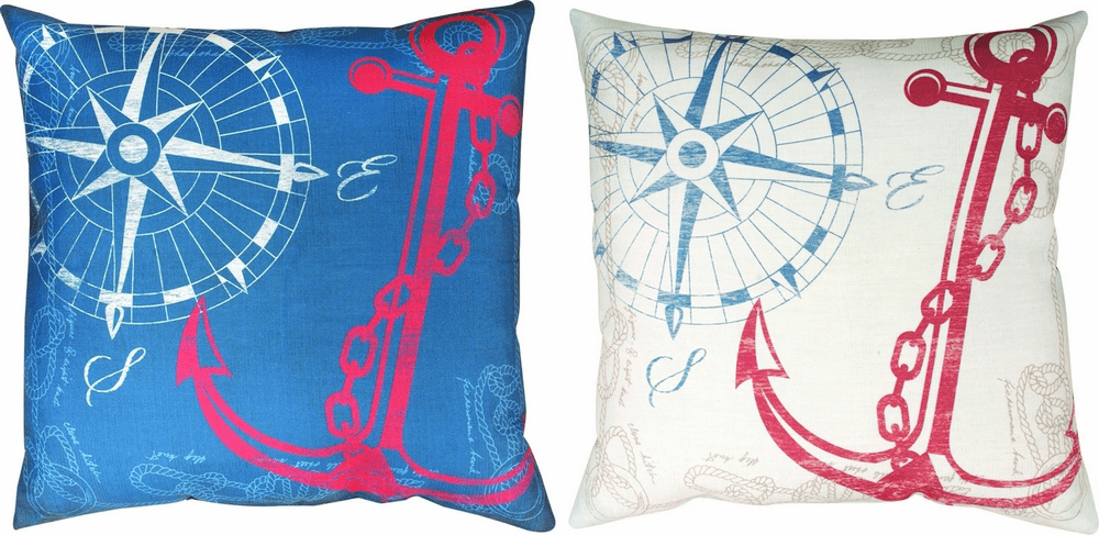 Anchor's Away Climaweave Reversible Pillow