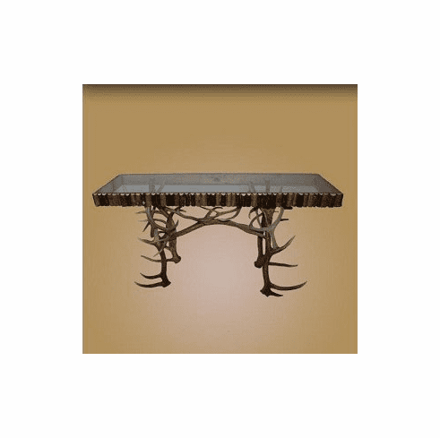 Antler Sofa Table with Glass Top