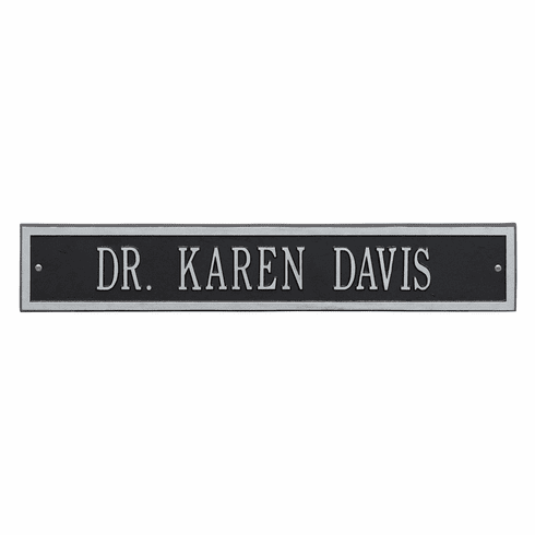 Arch Extension Estate Wall One Line Plaque in Black and Silver