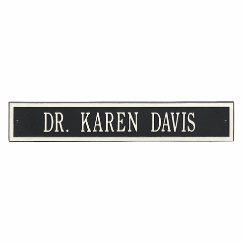 Arch Extension Estate Wall One Line Plaque in Black and White