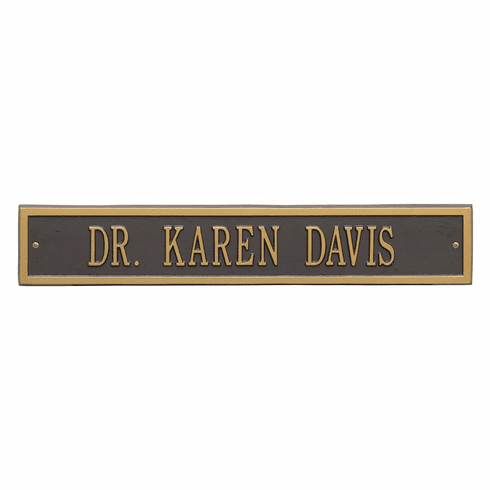 Arch Extension Estate Wall One Line Plaque in Bronze and Gold