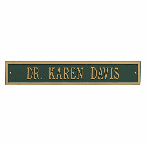 Arch Extension Estate Wall One Line Plaque in Green and Gold