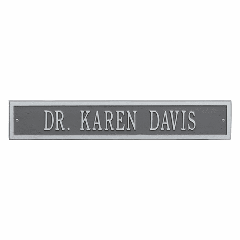 Arch Extension Estate Wall One Line Plaque in Pewter and Silver