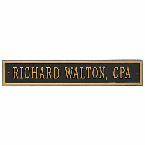 Arch Extension Standard Wall One Line Plaque in Black and Gold