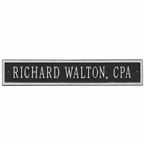 Arch Extension Standard Wall One Line Plaque in Black and Silver