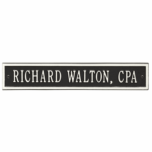 Arch Extension Standard Wall One Line Plaque in Black and White