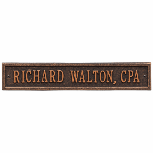 Arch Extension Standard Wall One Line Plaque in Oil Rubbed Bronze