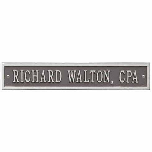 Arch Extension Standard Wall One Line Plaque in Pewter and Silver
