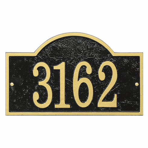 Arch House Numbers Plaque in Black and Gold
