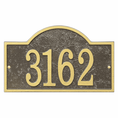 Arch House Numbers Plaque in Bronze and Gold