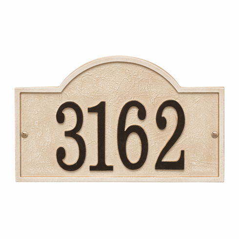 Arch House Numbers Plaque, Standard Wall 1-line