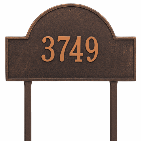 Arch Marker Estate Lawn One Line Plaque Oil Rubbed Bronze