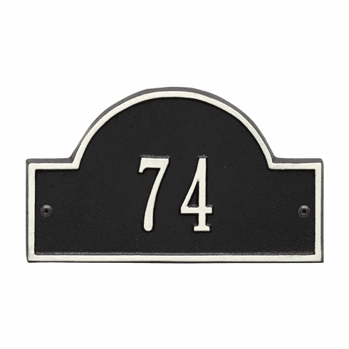 Arch Marker Petite Wall One Line Address Plaque in Black and White
