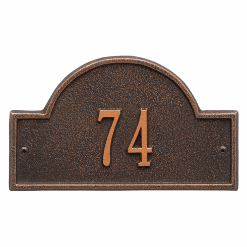 Arch Marker Petite Wall One Line Address Plaque in Oil Rubbed Bronze