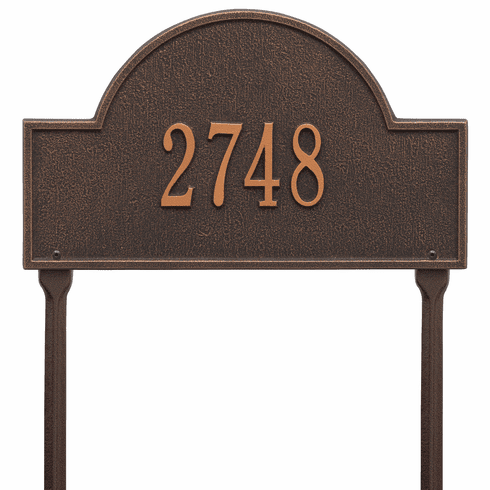Arch Marker Standard Lawn One Line Plaque in Oil Rubbed Bronze