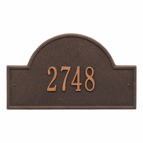 Arch Marker Standard Wall One Line Address Plaque in Oil Rubbed Bronze