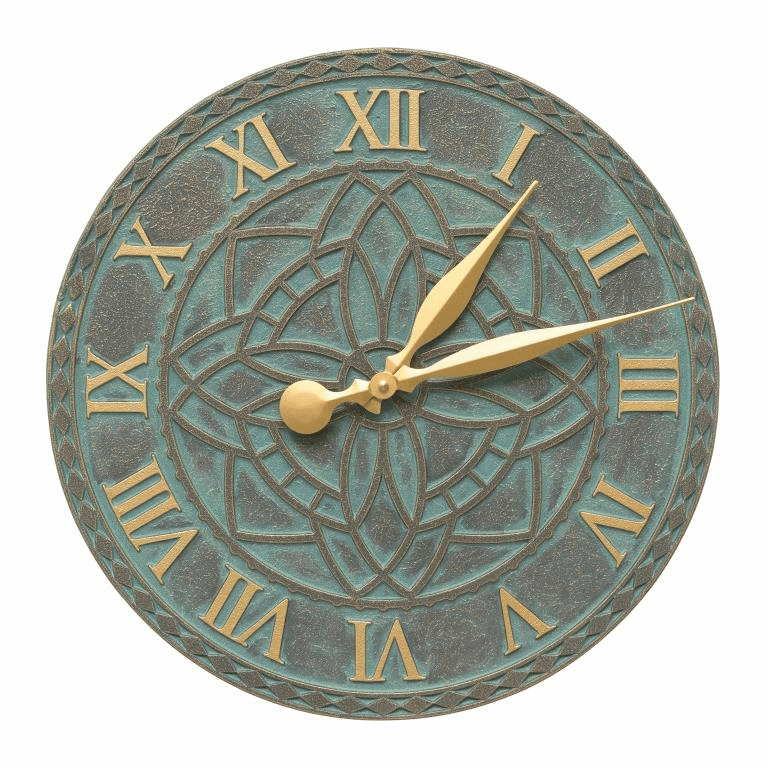 Artisan 16 inches Indoor Outdoor Wall Clock - Bronze Verdigris