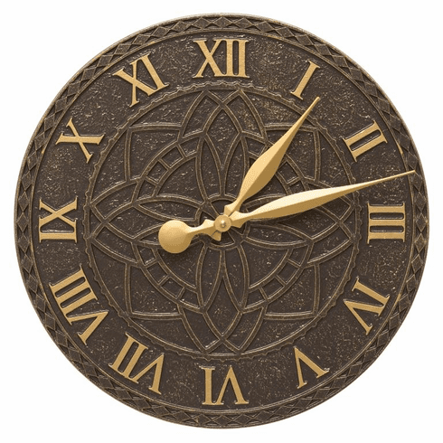 Artisan 16 inches Indoor Outdoor Wall Clock - French Bronze