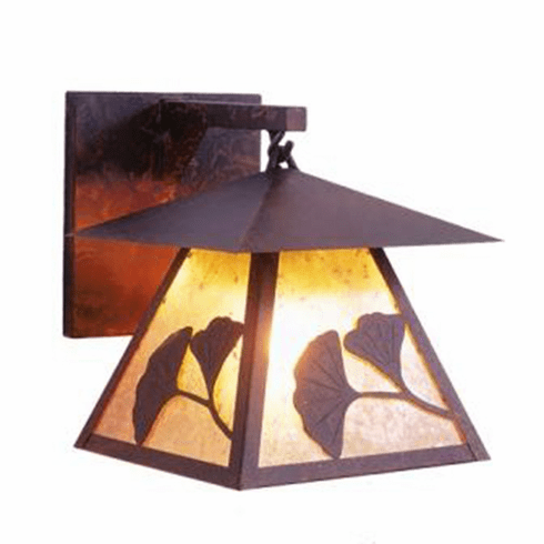 Arts and Crafts Gingko Prairie Hanging Sconce