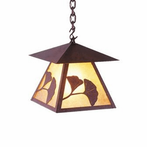 Arts and Crafts Gingko Prairie Pendant Light